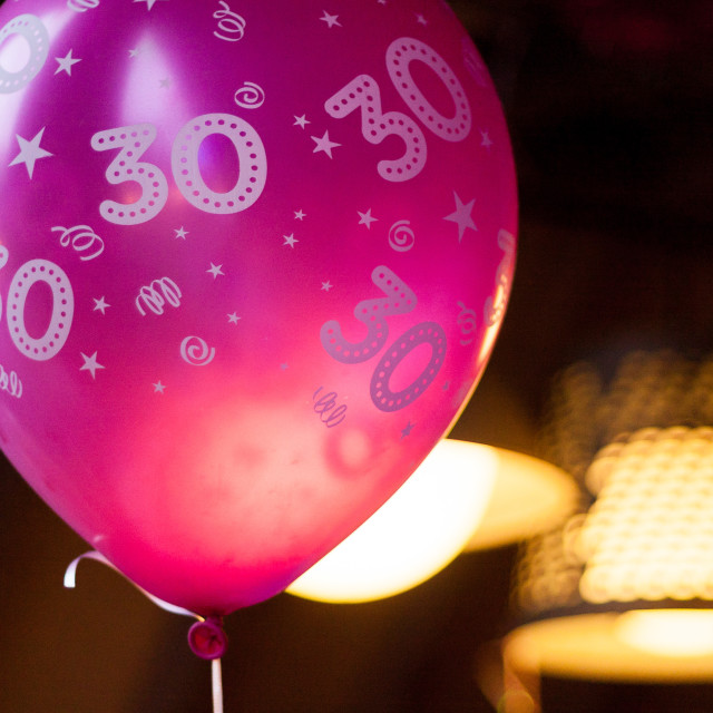 """Turning 30"" stock image"