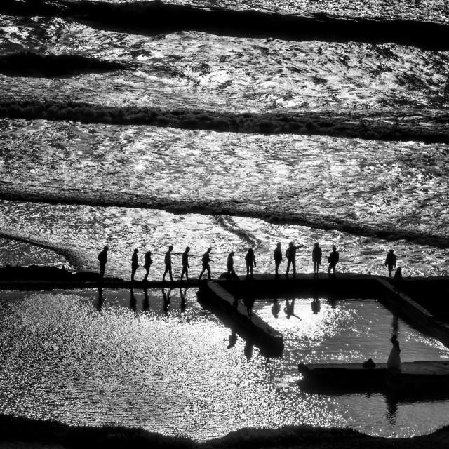 """""""Follow Me: Sutro Baths, San Francisco, California"""" stock image"""