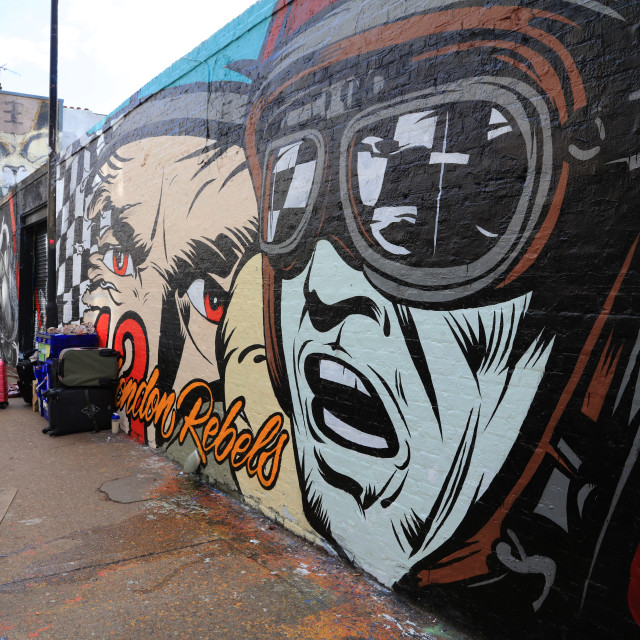 """Street Art, Shoreditch"" stock image"