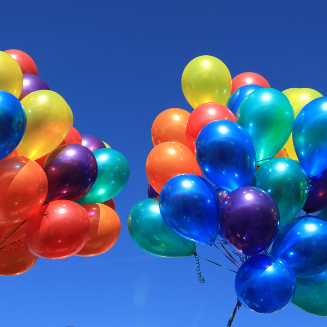 """Coloured Balloons"" stock image"