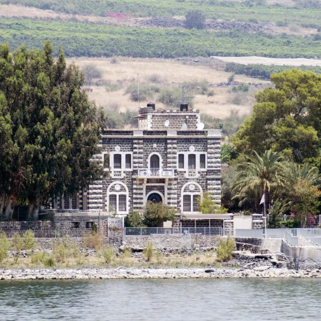 """Saint Peter Primacy in Tabgha"" stock image"