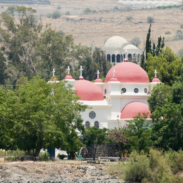 """Capernaum, the Greek Orthodox Church"" stock image"