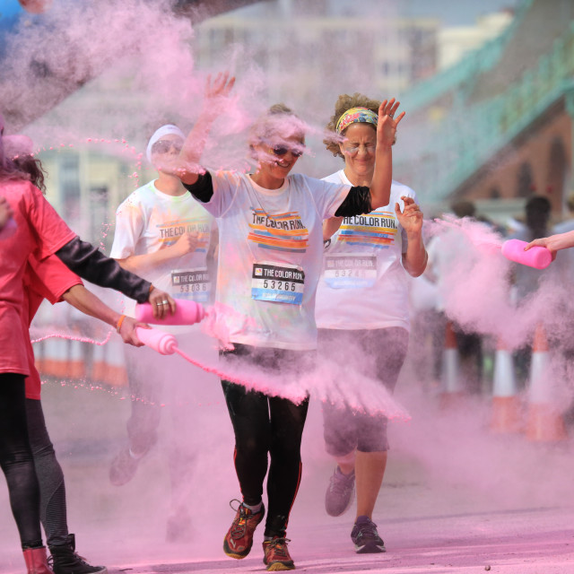 """Pink section of the Colour Run"" stock image"