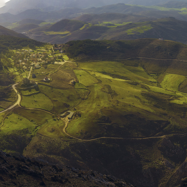"""Cretan village from above"" stock image"