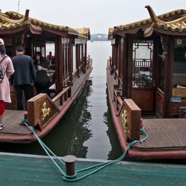 """Pleasure Boat Loading"" stock image"