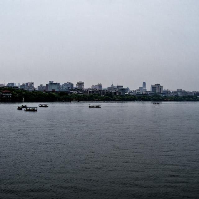 """""""Hangzhou Skyline"""" stock image"""