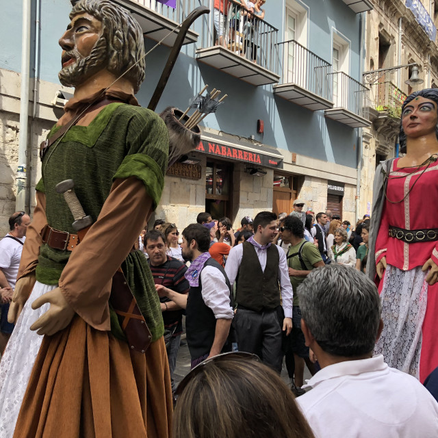 """Gigantes de la Chantrea in Pamplona, Spain"" stock image"