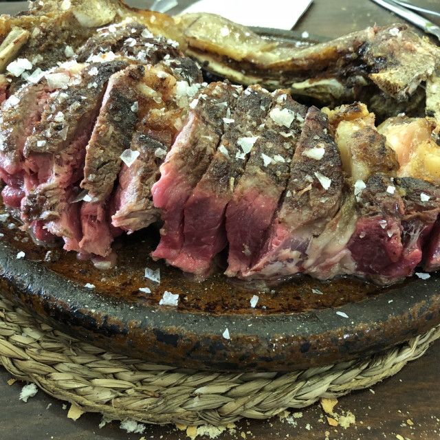 """""""Chuleton, typical beef steak of the Basc Country, north of Spain"""" stock image"""
