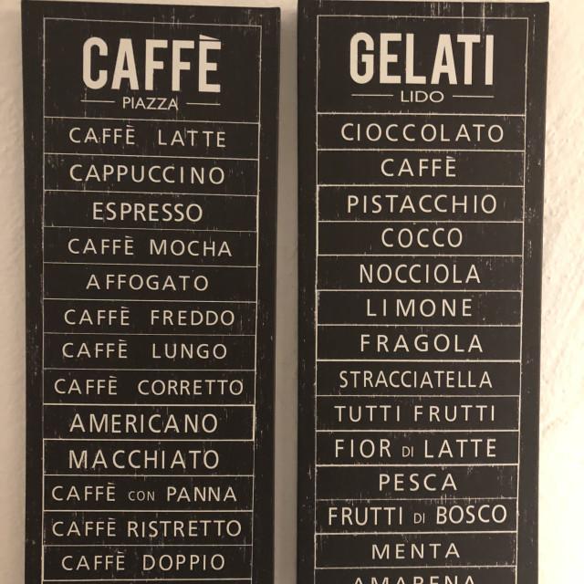 """Caffe and gelati"" stock image"