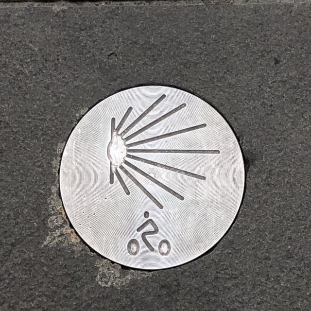 """Camino de Santiago sign"" stock image"