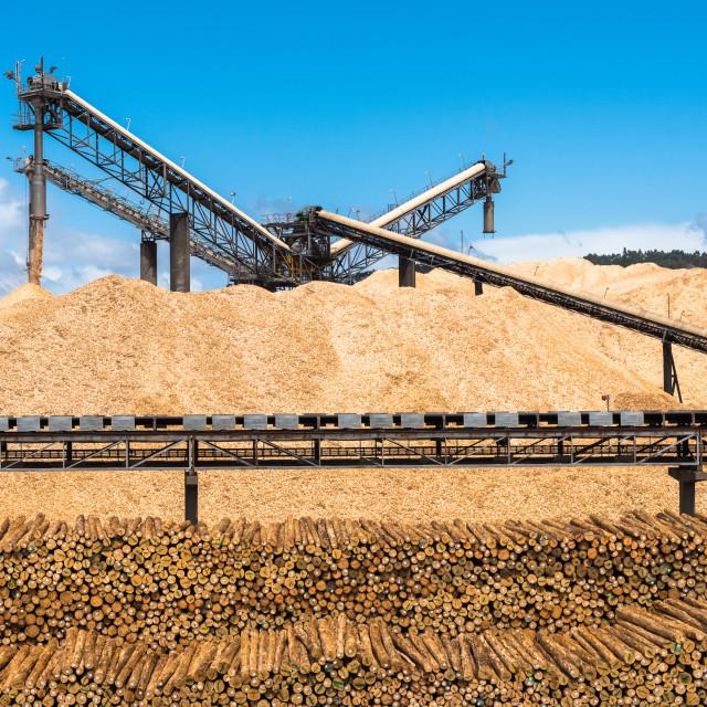"""Working Wood Chipper in Australian Port"" stock image"