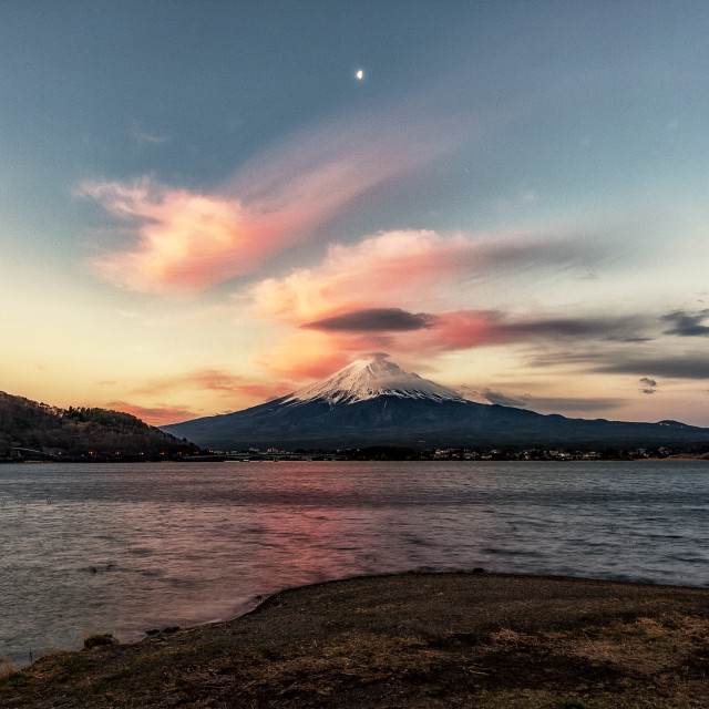 """sunrise - mt fuji"" stock image"