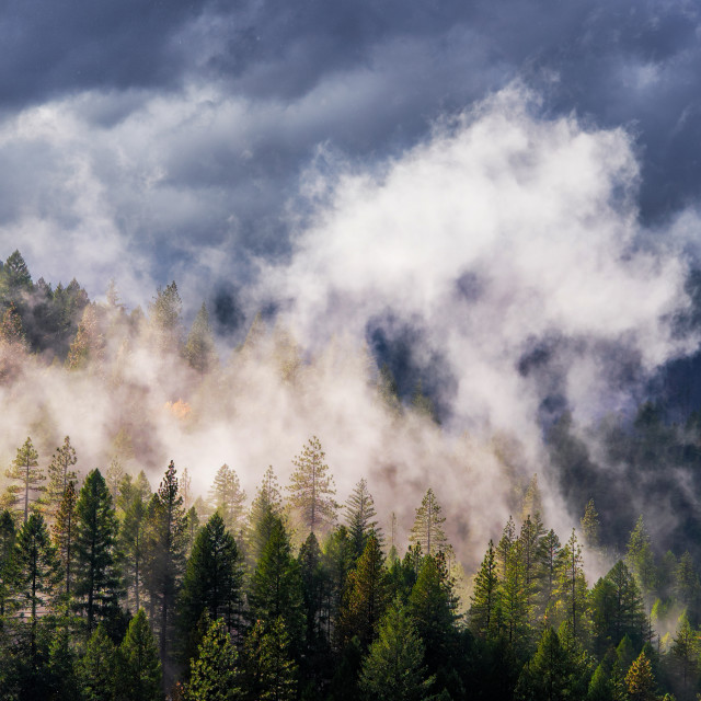 """A Fall Storm Passing Over The Sierra Nevada Mountains"" stock image"