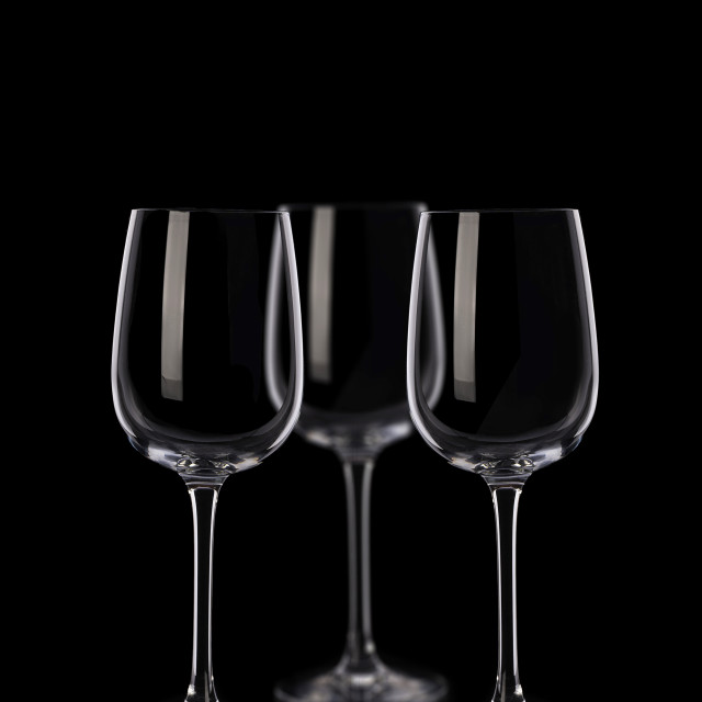 """Glasses on black background"" stock image"