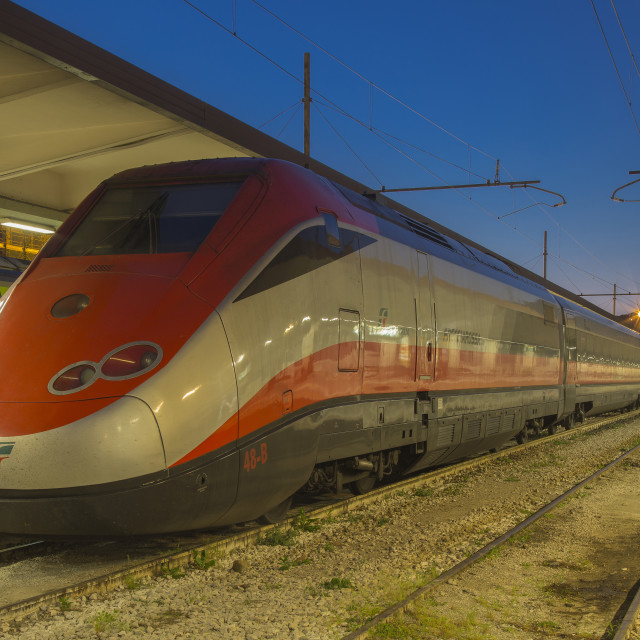 """Modern high-speed passenger train"" stock image"