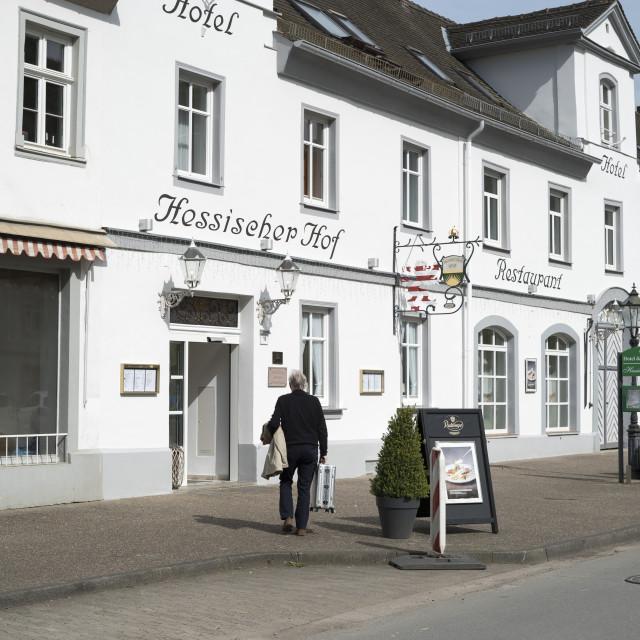 """""""Hotel Hesssischer Hof"""" stock image"""
