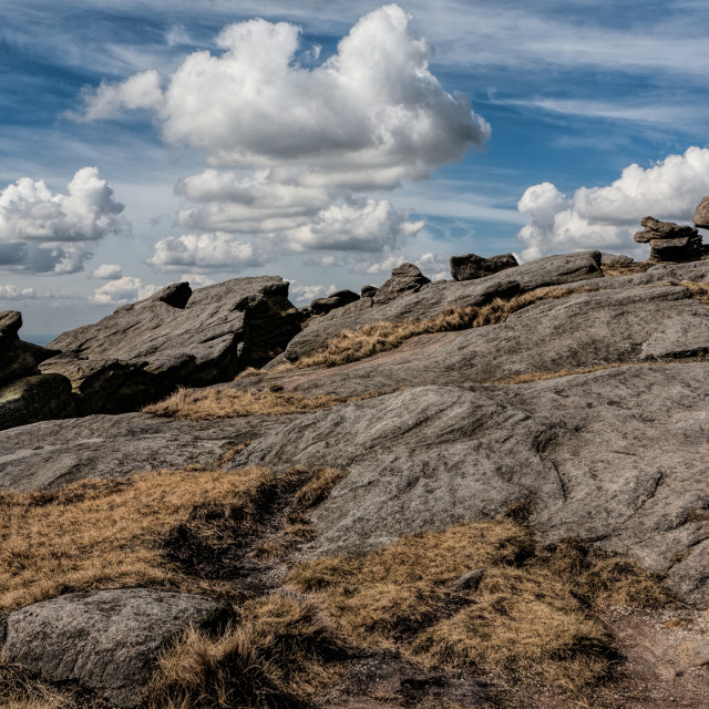 """Derbyshire Peak District, Stone and Sky"" stock image"
