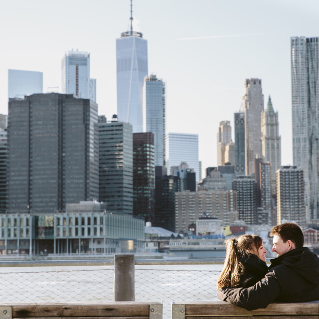 """""""Couple in NYC"""" stock image"""