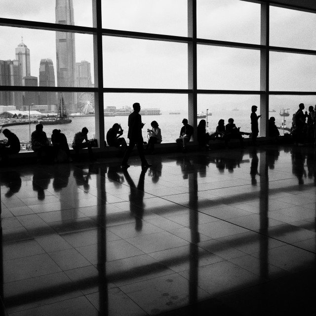 """""""Breathing Space: Hong Kong Convention & Exhibition Centre"""" stock image"""