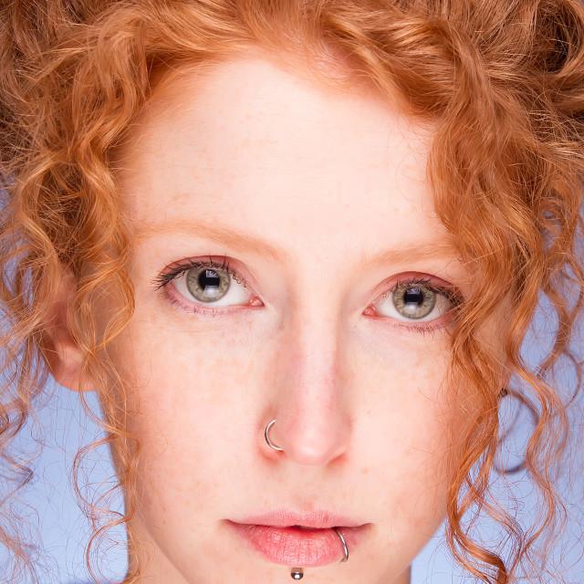 """Beautiful Redhead Woman"" stock image"