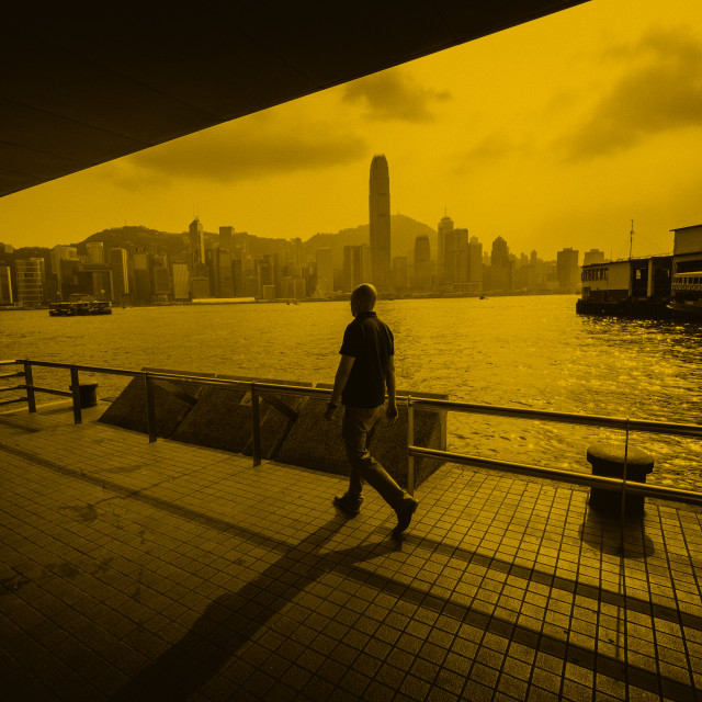 """Sunrise Sunset Moving On: Hong Kong"" stock image"