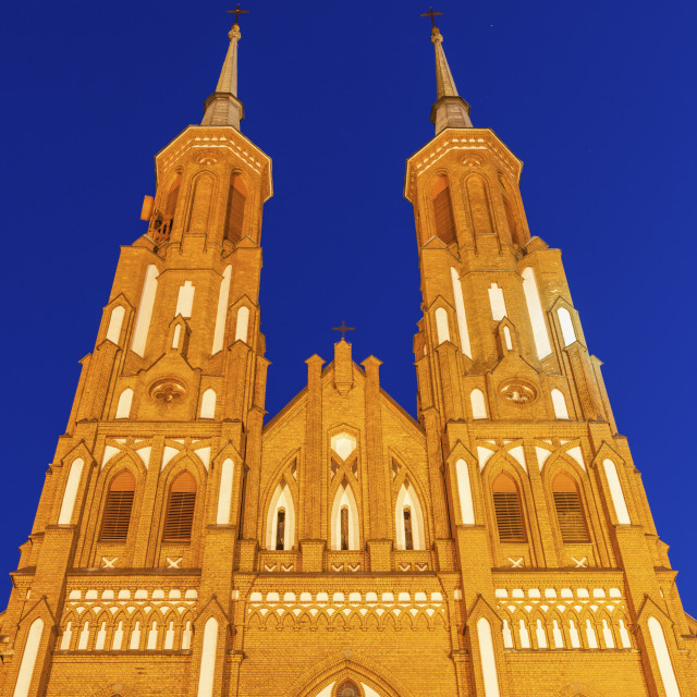 """""""Church Of the Blessed Virgin Mary in Siedlce"""" stock image"""