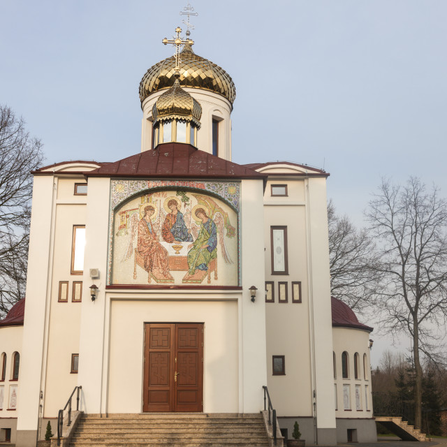 """""""Orthodox Parish of St. Cyril and Methodius in Biala Podlaska"""" stock image"""