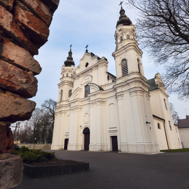"""""""Church of the Nativity of the Blessed Virgin Mary in Biala Podlaska"""" stock image"""