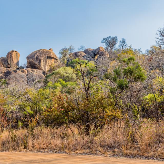 """Balancing rocks in Matobo National Park, Zimbabwe"" stock image"
