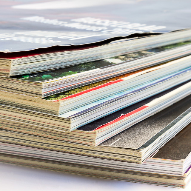 """Stack of magazines"" stock image"