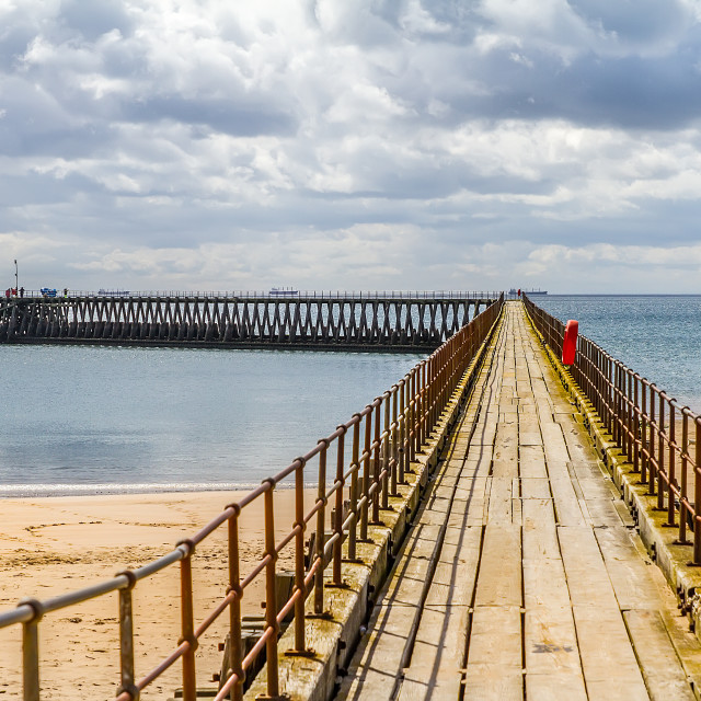 """Blyth Old Pier"" stock image"