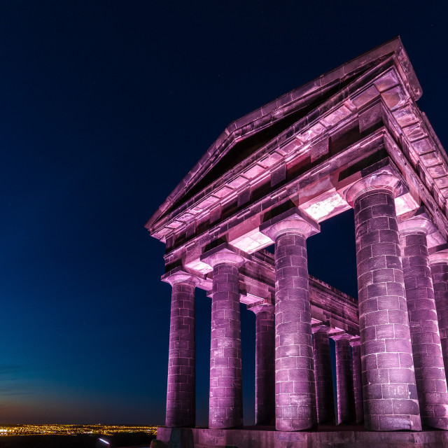 """Penshaw Monument at Night"" stock image"