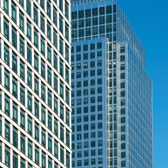 """""""One Canada Square, Canary Wharf"""" stock image"""