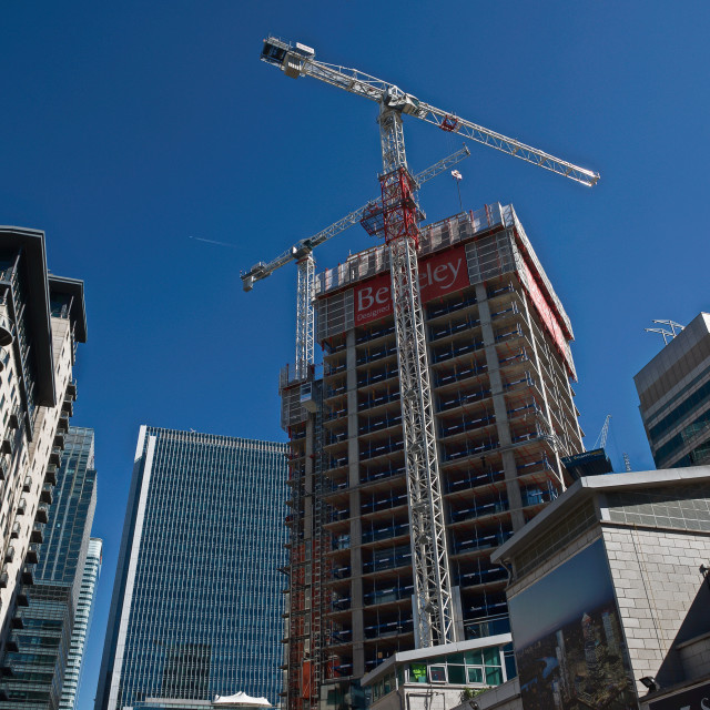 """Berkeley's South Quay Plaza development under construction #2"" stock image"