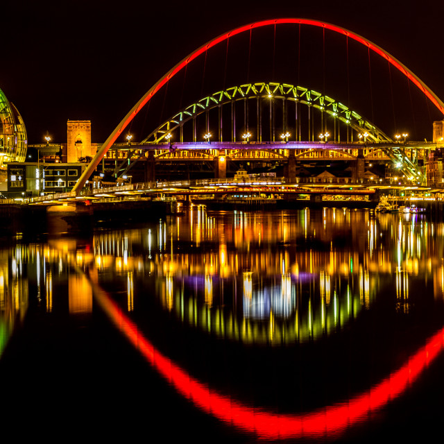 """""""Newcastle & Gateshead Quaysides"""" stock image"""