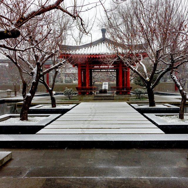 """Chinese style courtyard"" stock image"