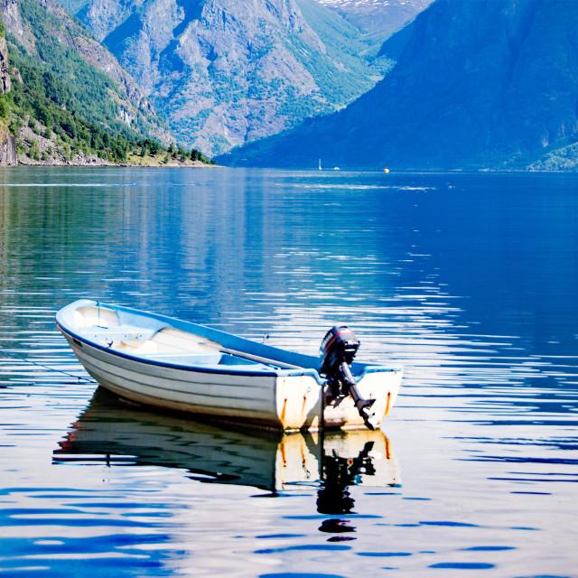 """Flaam, Norway"" stock image"