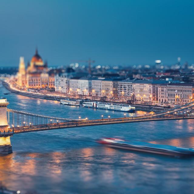 """""""Budapest at twilight"""" stock image"""