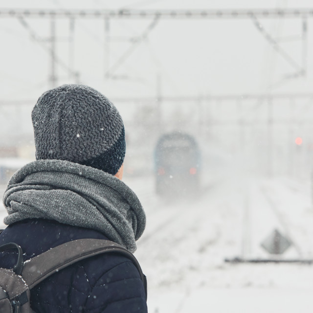 """Railway in winter"" stock image"