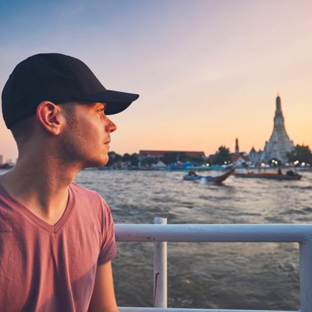 """""""Sunset in Bangkok"""" stock image"""