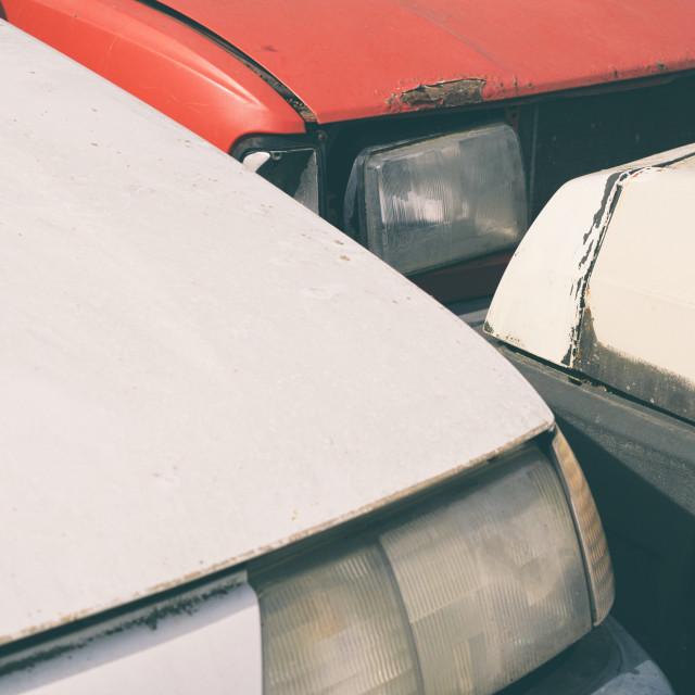 """""""Car Junkyard Closeup"""" stock image"""