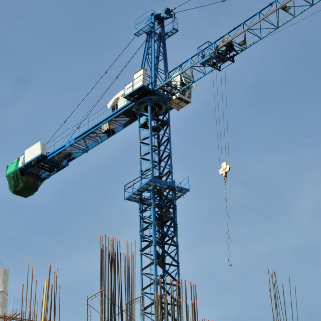 """""""Tower crane at construction site"""" stock image"""