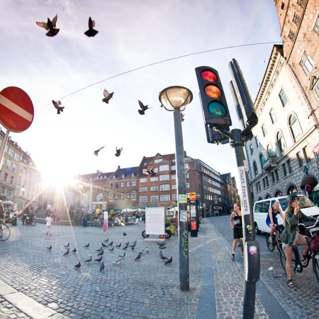 """""""Copenhagen full of life"""" stock image"""