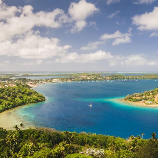 """""""Kingdom of Tonga from above"""" stock image"""