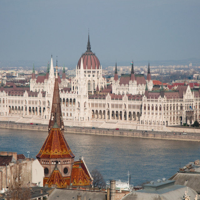 """parliament house in Budapest, capital of Hungary"" stock image"