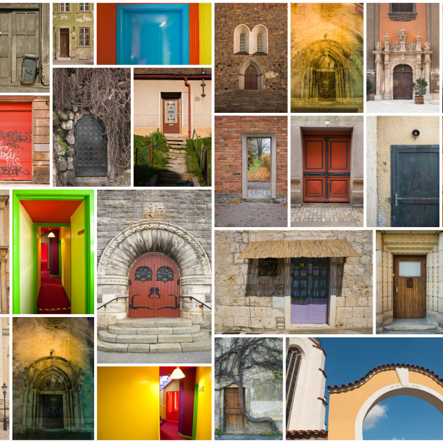 """doors of all kinds"" stock image"