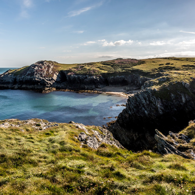 """Porth Dafarch, North Wales"" stock image"