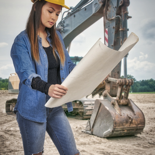 """Female Construction Worker"" stock image"