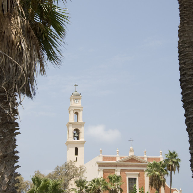 """""""St Peter church in old Jaffa"""" stock image"""