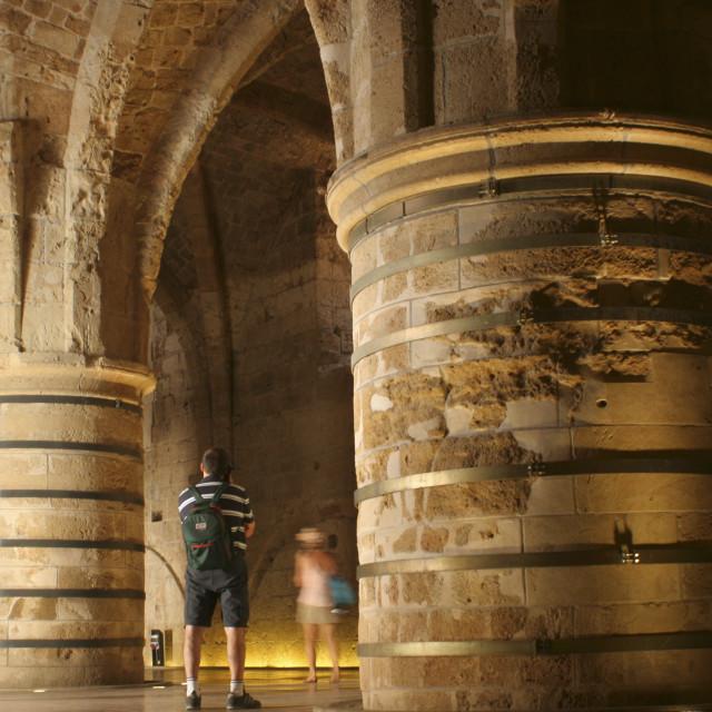 """subterranean crusaders knight's halls"" stock image"